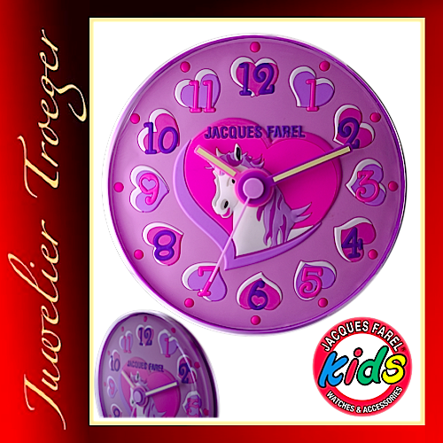 "Jacques Farel ""Clocks"" Uhr Kinder Wanduhr WAL07"