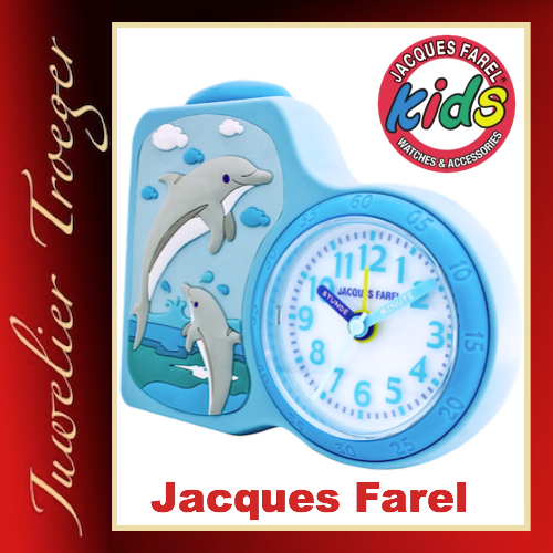 Jacques Farel Kids Wecker Uhr Kinderwecker Modell ACB712 Delphin