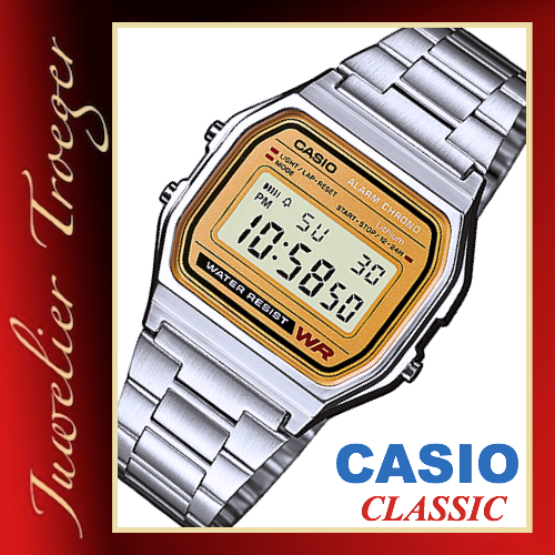 Casio Uhr Digitale Armbanduhr Classic Collection  Modell A158WEA-9EF