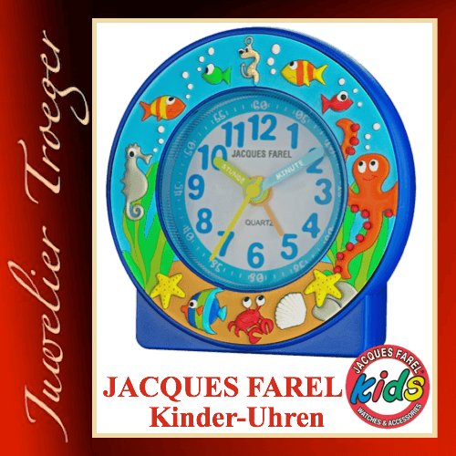 Jacques Farel Kids Wecker Kinderwecker Lernwecker ACN5003 Meerestiere