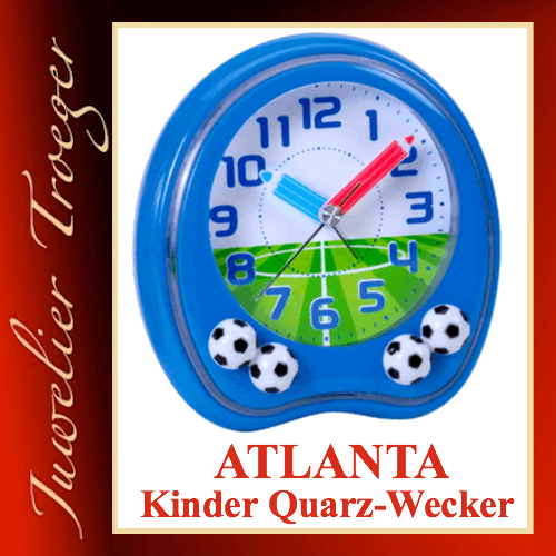 Atlanta Wecker Analoger Kinderwecker Modell 1719-5 mit Melodie