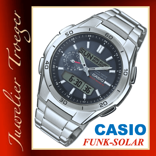 casio uhr wave ceptor funk solar herren armbanduhr wva. Black Bedroom Furniture Sets. Home Design Ideas