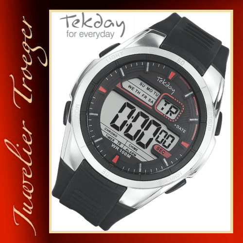 Tekday Uhr Digitale Herren/Jugend Armbanduhr Modell 655894 Young-Collection