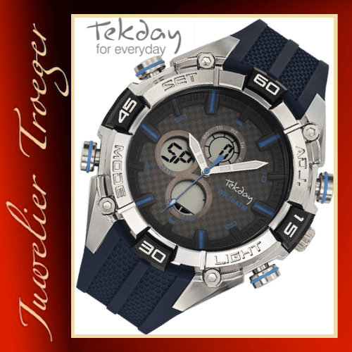 Tekday Uhr Analog Digitale Kinderuhr Jugenduhr Modell 655841 Young-Collection
