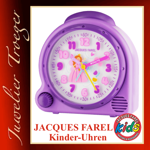 Jacques Farel Kids Wecker Kinderwecker Modell Fee AVC17 FAIRY-G mit Weck-Sound