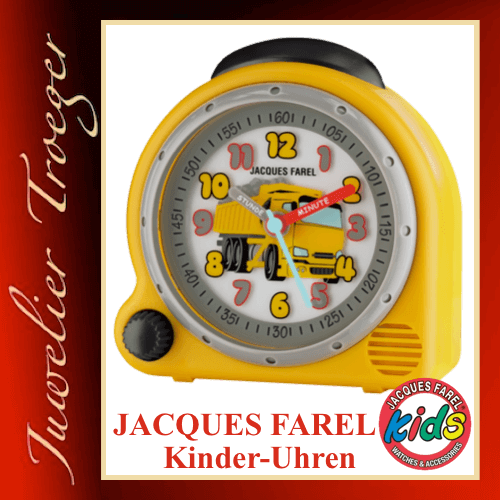 Jacques Farel Kids Wecker Kinderwecker Modell Truck AVC07 DUMP-G mit Weck-Sound