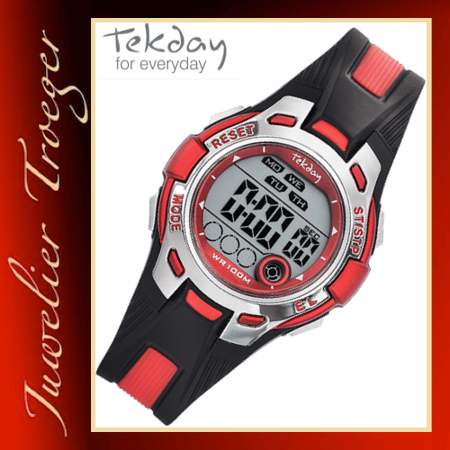 Tekday Uhr Digitale Kinderuhr Jugenduhr Modell 653944 Young-Collection