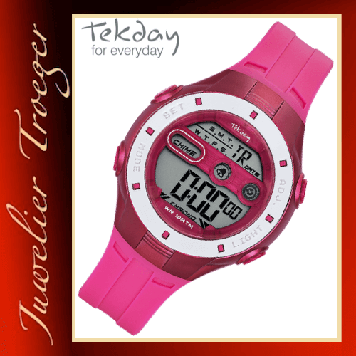 Tekday Uhr Digitale Kinderuhr Jugenduhr Modell 653951 Young-Collection