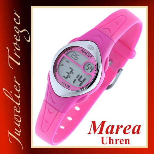 Marea Uhr Digitale Kinderuhr Modell Boys & Girls B25109/2 mit Licht