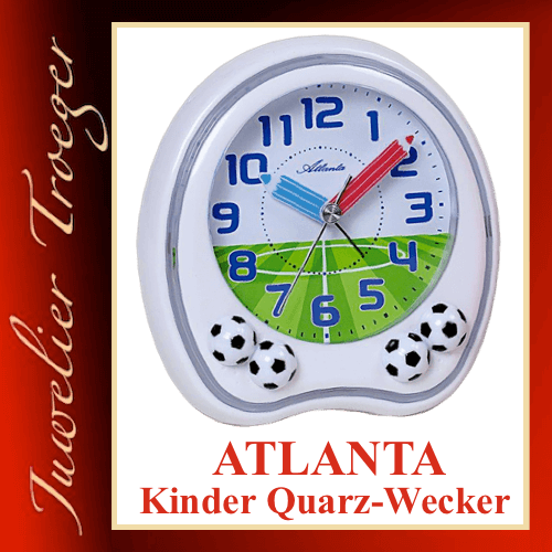 Atlanta Wecker Analoger Kinderwecker Modell 1719-0F mit Melodie