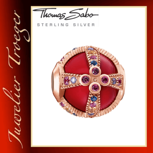 Thomas Sabo Karma Beads - Royalty Rot - 925er Sterlingsilber vergoldet