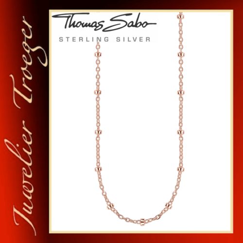 Thomas Sabo Karma Beads Halskette Kette für Beads in Sterlingsilber KK0004