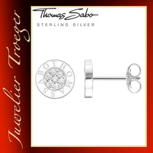 Thomas Sabo Ohrstecker Glam & Soul - Classic Pavé Weiss - H1547 Sterlingsilber