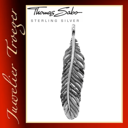 Thomas Sabo Anhänger Rebel at heart - Feder - Gothic Schmuck PE703