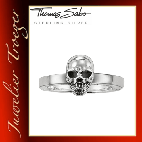 Thomas Sabo Ring Rebel at heart - Totenkopf - Gothic Schmuck TR1876