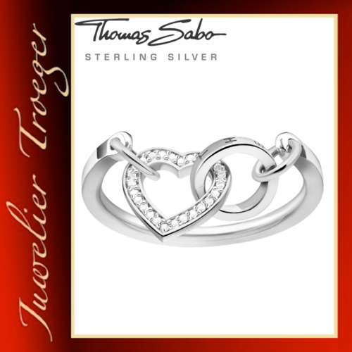 Thomas Sabo Ring Damenring - Together Herz - 925er Sterlingsilber TR2142 GR.54