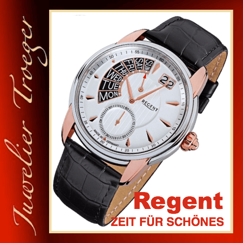 Regent Uhr Herren Armbanduhr Germany Collection Modell GM1436