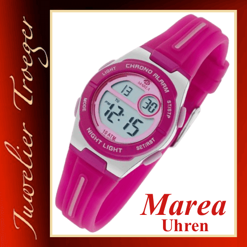 Marea Uhr Digitale Kinderuhr Modell Boys & Girls B25149/3 mit Licht