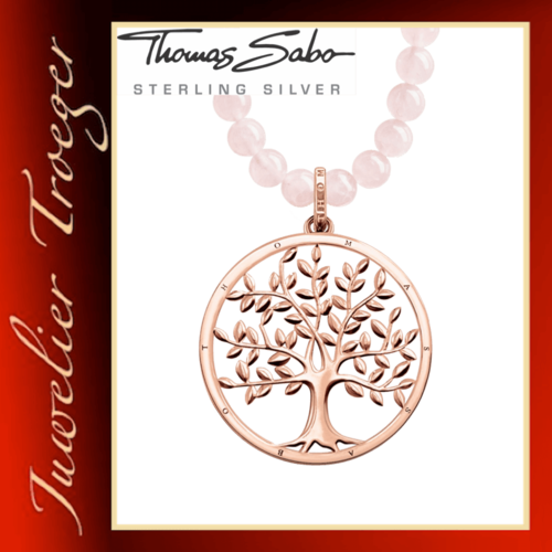 Thomas Sabo Kette Glam & Soul Anhänger - Tree of Love Rosa - KE1662