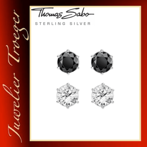 Thomas Sabo Ohrstecker Glam & Soul - Black and Knows - SCHH150213 Sterlingsilber