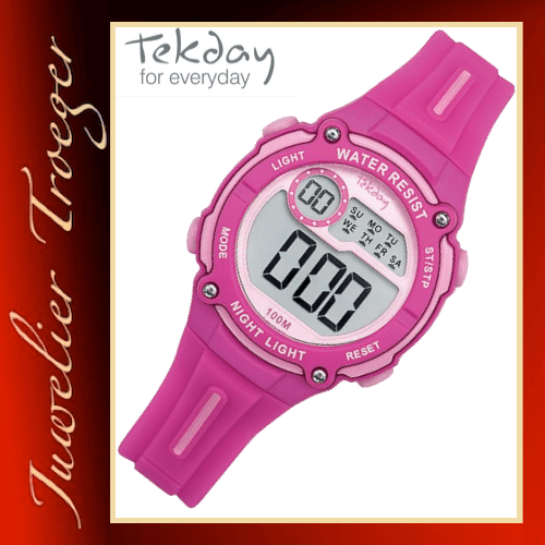 Tekday Uhr Digitale Kinderuhr Jugenduhr Modell 653998 Young-Collection