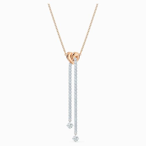 Swarovski Lifelong Heart Y-Halskette, weiss, Metallmix 5517952